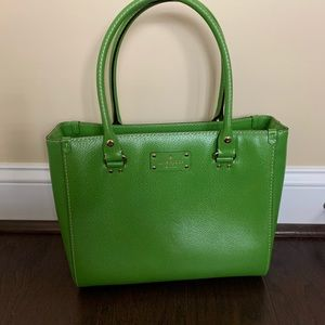 Kate Spade green leather tote